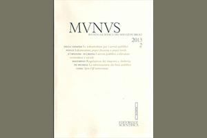 Munus. Rivista giuridica dei servizi pubblici – Abb. 2013
