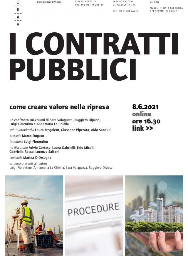 Seminario 8 giugno. I contratti pubblici: uno strumento per creare valore nella fase della ripresa